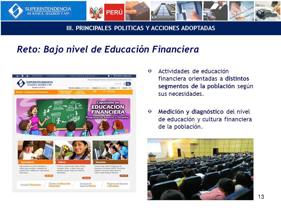 Reto: Bajo nivel de Educación Financiera