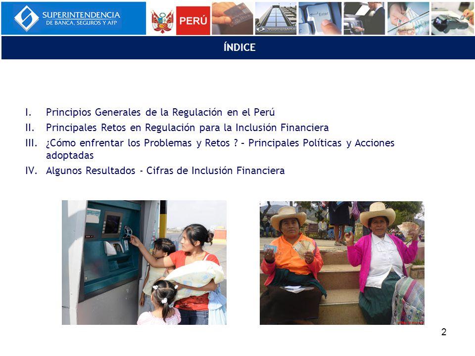 ÍNDICE Principios Generales de la Regulación en el Perú