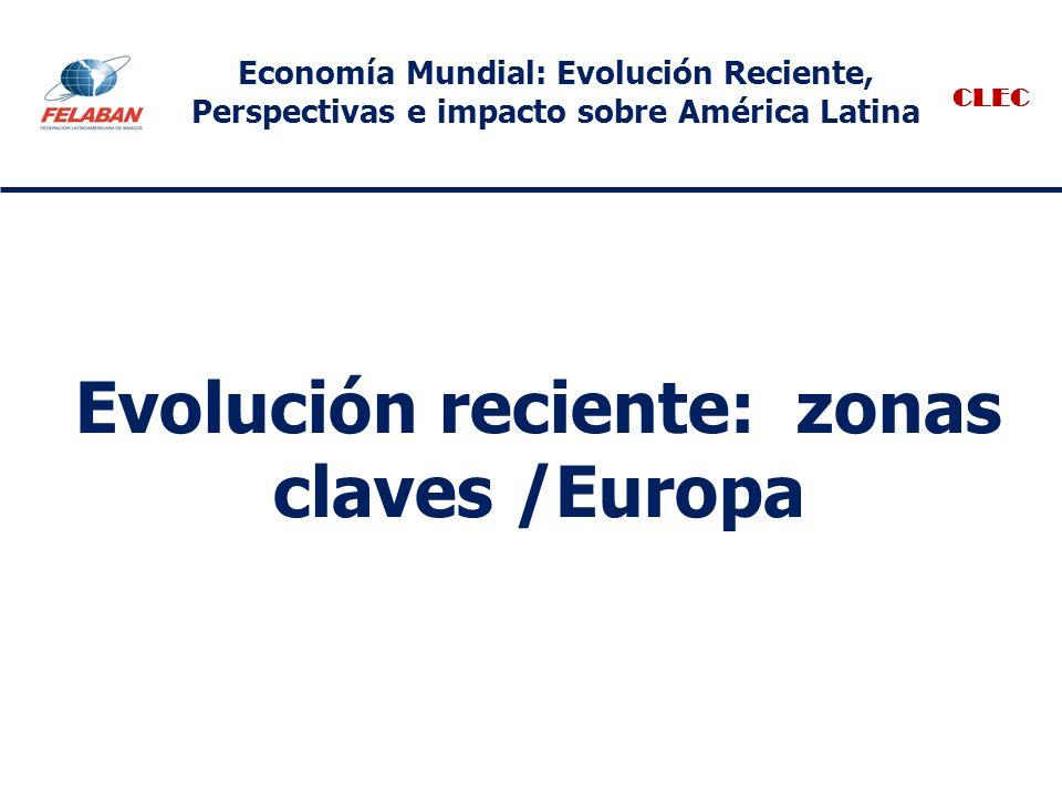 Evolución reciente: zonas claves /Europa