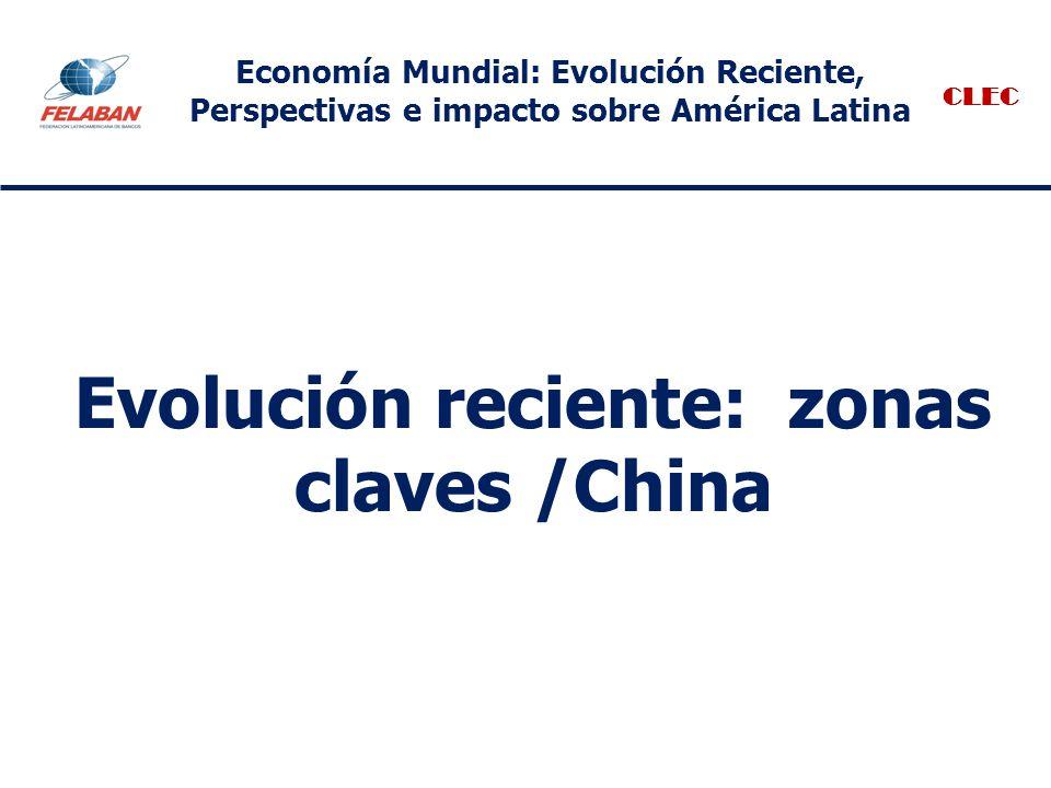 Evolución reciente: zonas claves /China