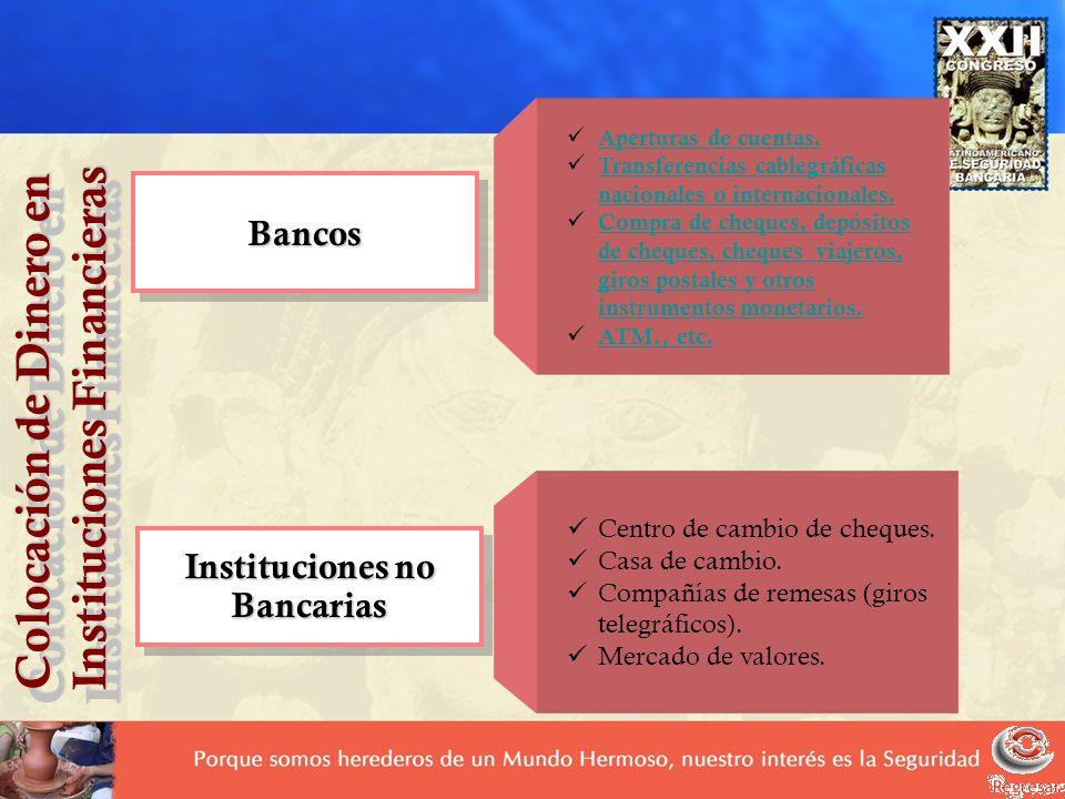 Instituciones no Bancarias