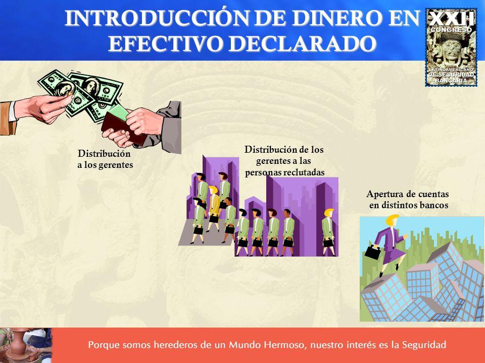 INTRODUCCIÓN DE DINERO EN EFECTIVO DECLARADO