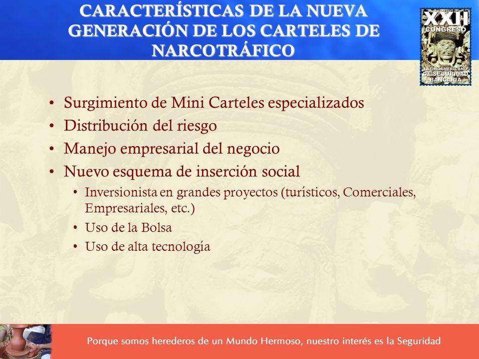 CARACTERÍSTICAS DE LA NUEVA GENERACIÓN DE LOS CARTELES DE NARCOTRÁFICO