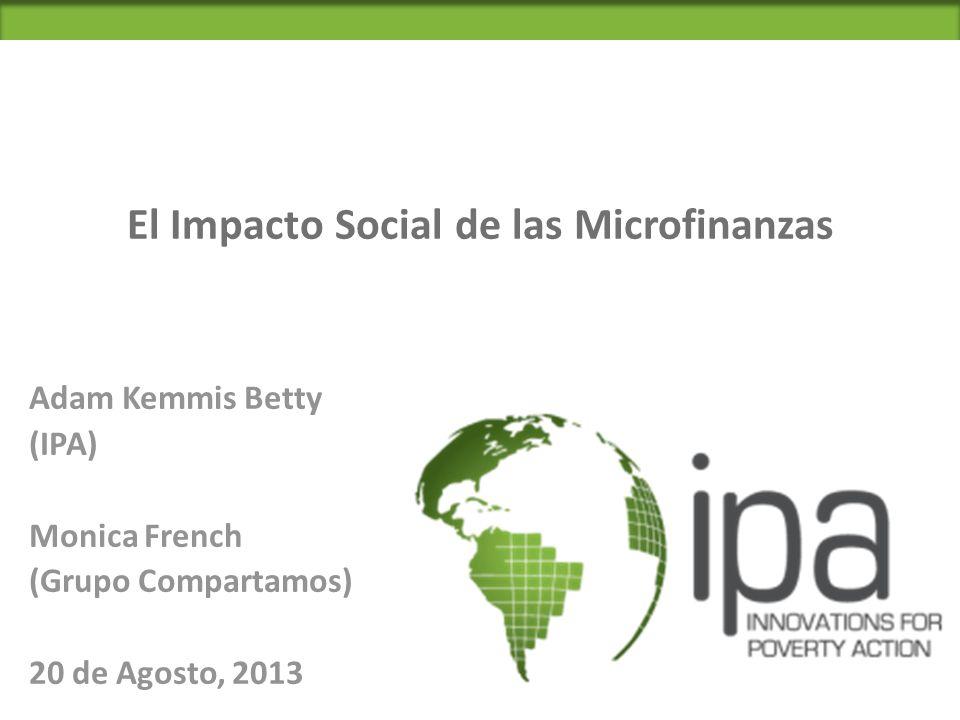 El Impacto Social de las Microfinanzas
