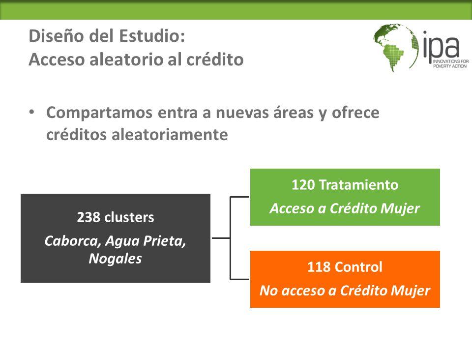 Diseño del Estudio: Acceso aleatorio al crédito