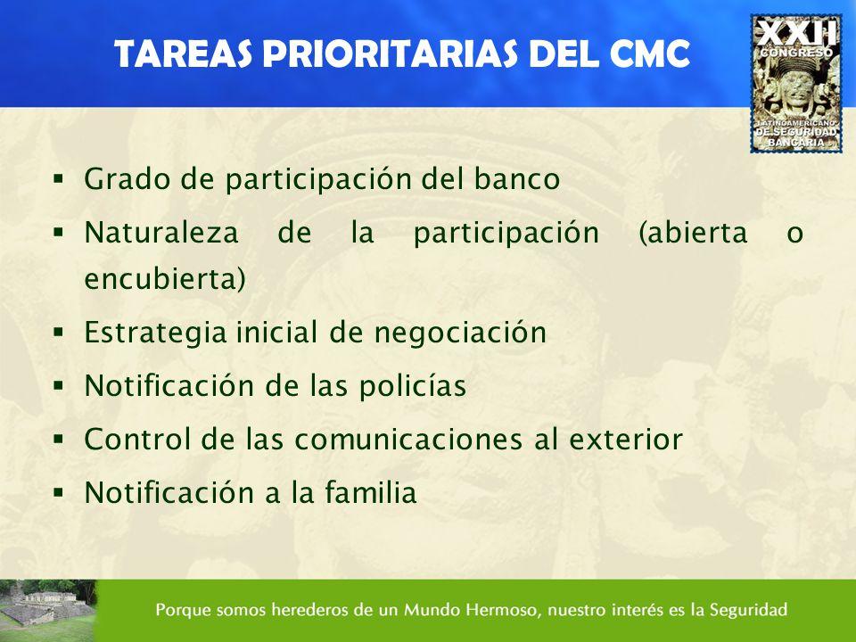 TAREAS PRIORITARIAS DEL CMC