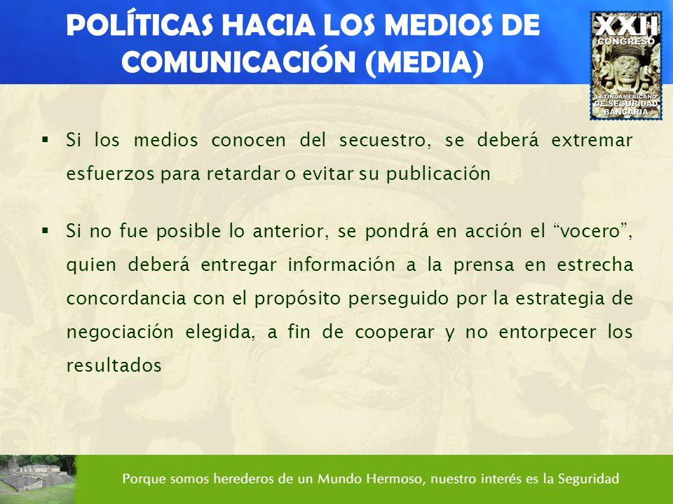 POLÍTICAS HACIA LOS MEDIOS DE COMUNICACIÓN (MEDIA)