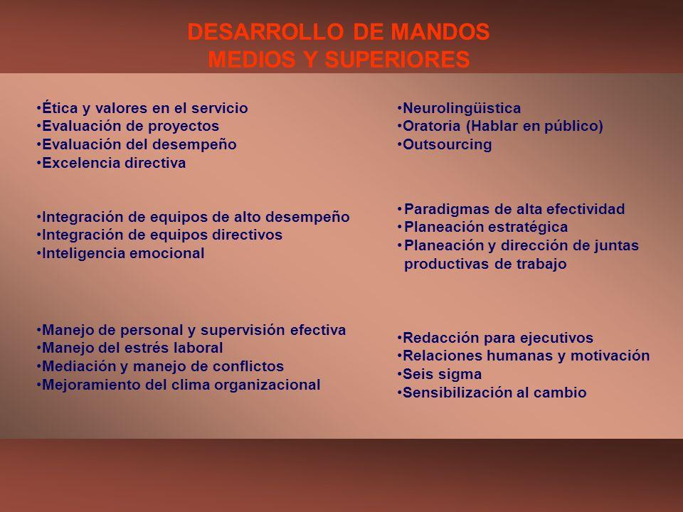 DESARROLLO DE MANDOS MEDIOS Y SUPERIORES
