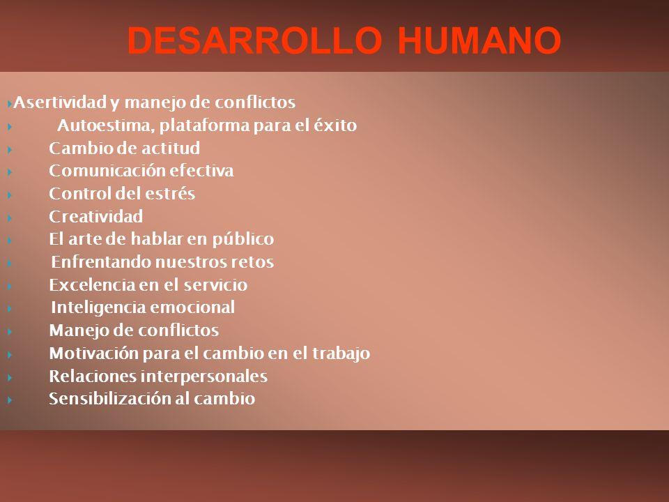 DESARROLLO HUMANO Asertividad y manejo de conflictos