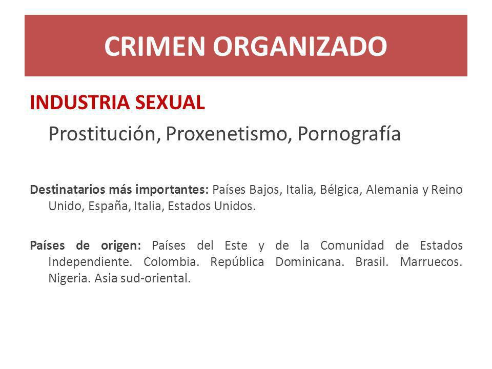 CRIMEN ORGANIZADO INDUSTRIA SEXUAL