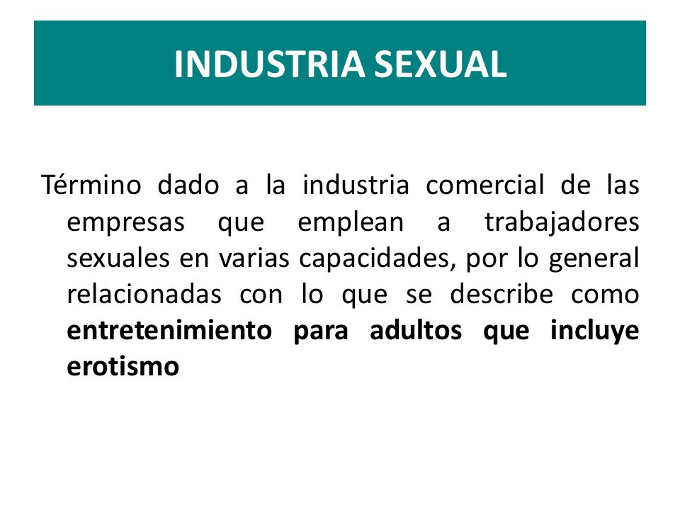 INDUSTRIA SEXUAL