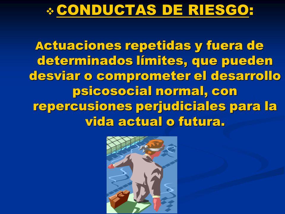 CONDUCTAS DE RIESGO: