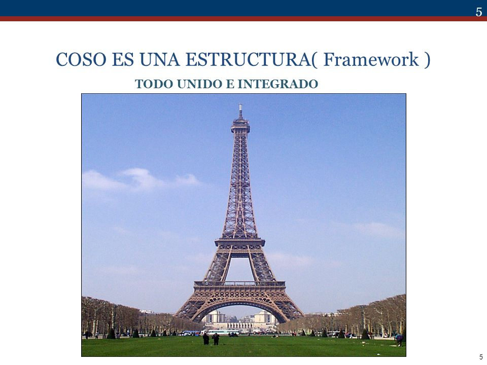 COSO ES UNA ESTRUCTURA( Framework )