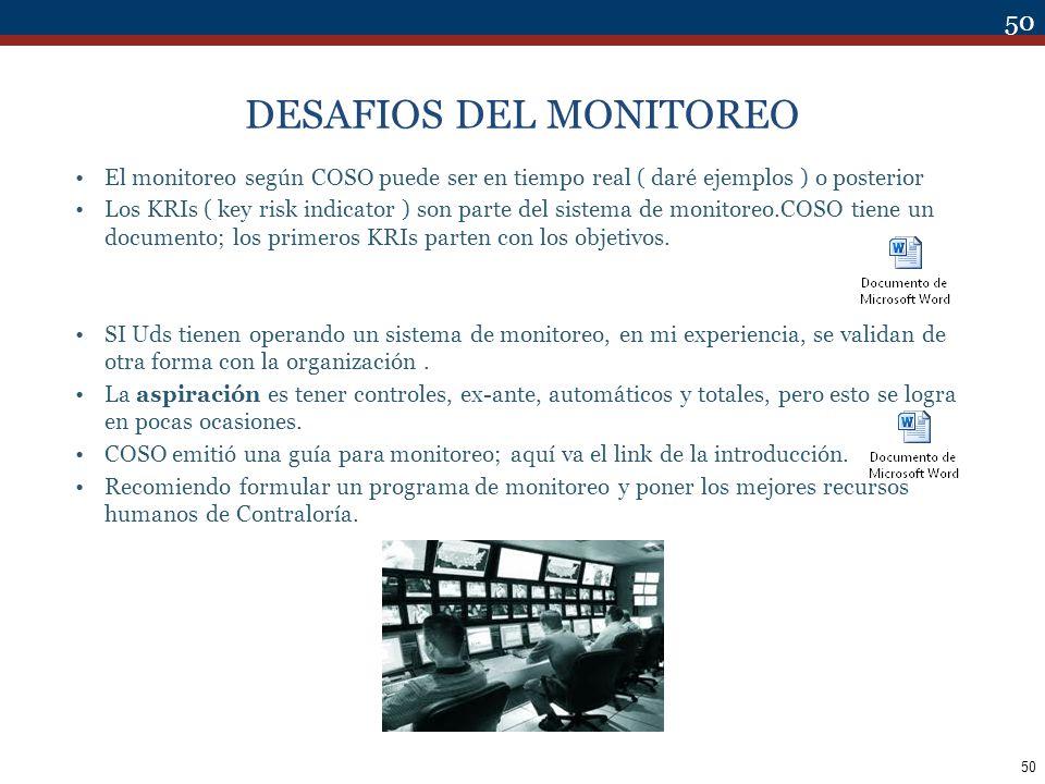 DESAFIOS DEL MONITOREO