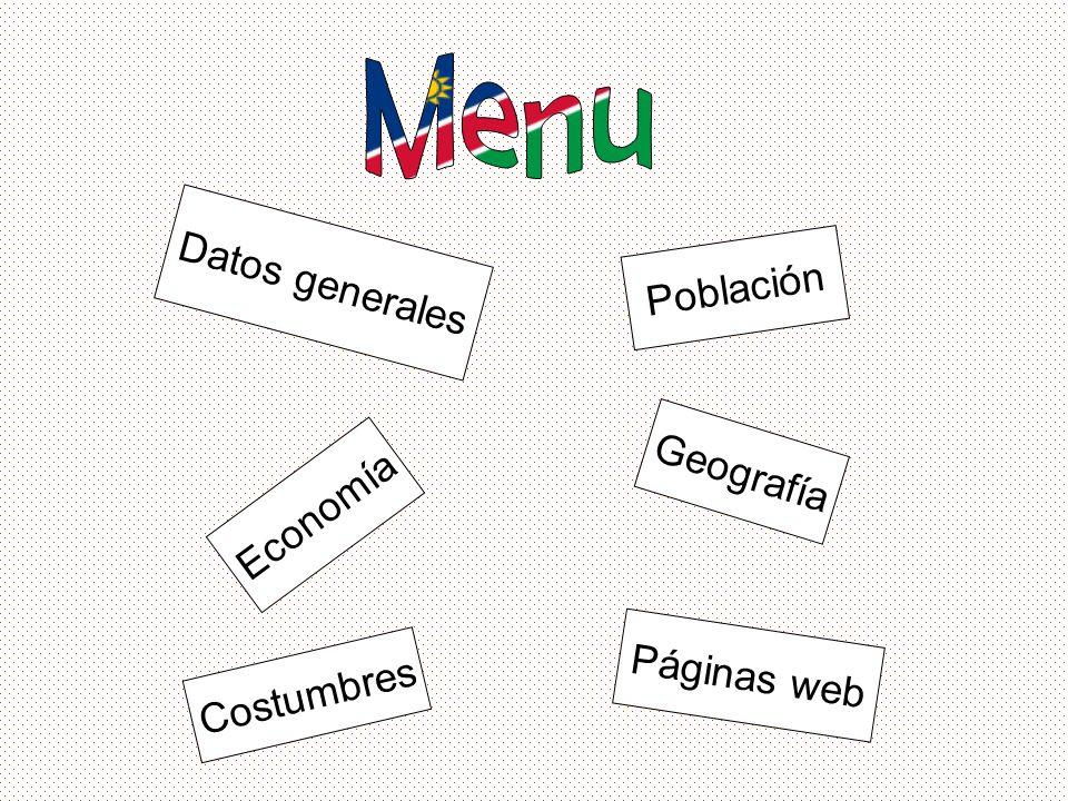 Menu Datos generales Población Geografía Economía Páginas web