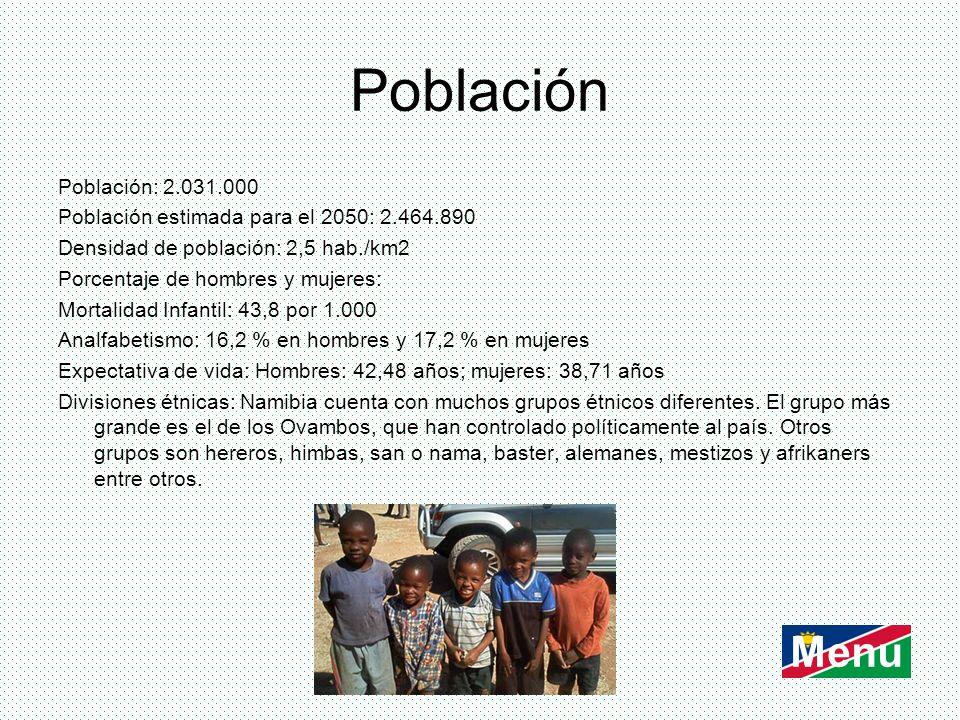 Población Menu Población: 2.031.000