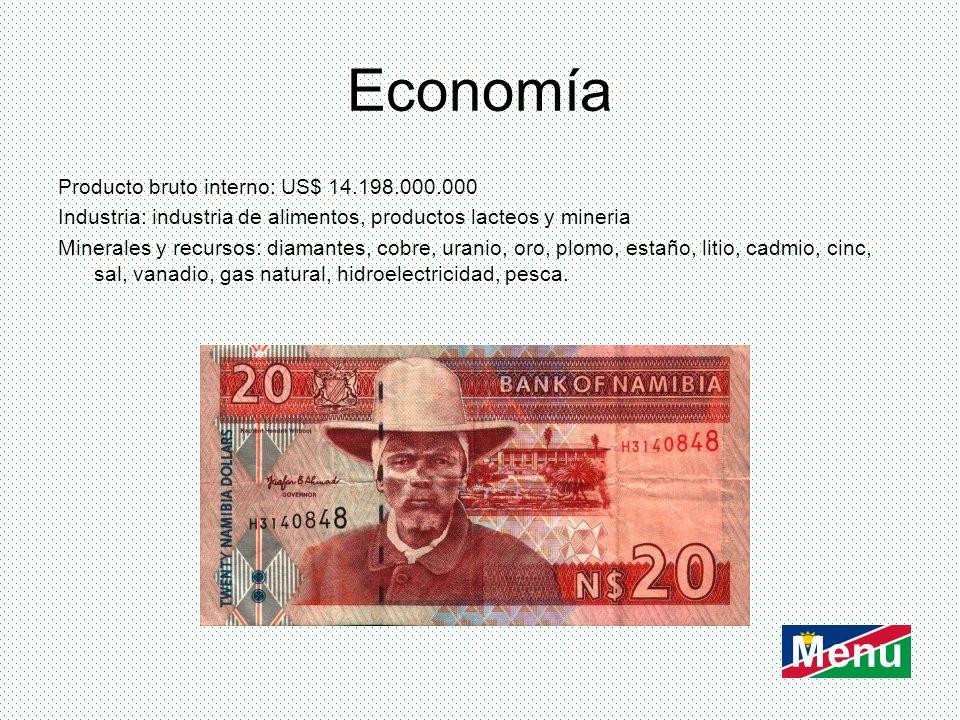 Economía Menu Producto bruto interno: US$ 14.198.000.000
