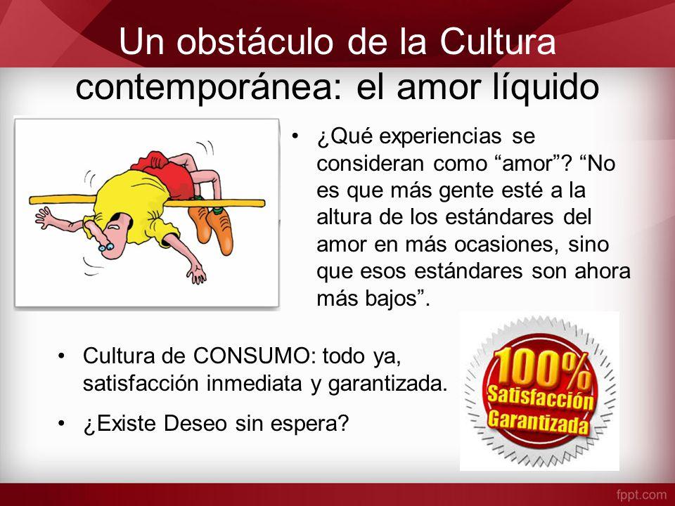 Un obstáculo de la Cultura contemporánea: el amor líquido