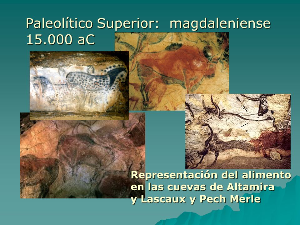 Paleolítico Superior: magdaleniense 15.000 aC