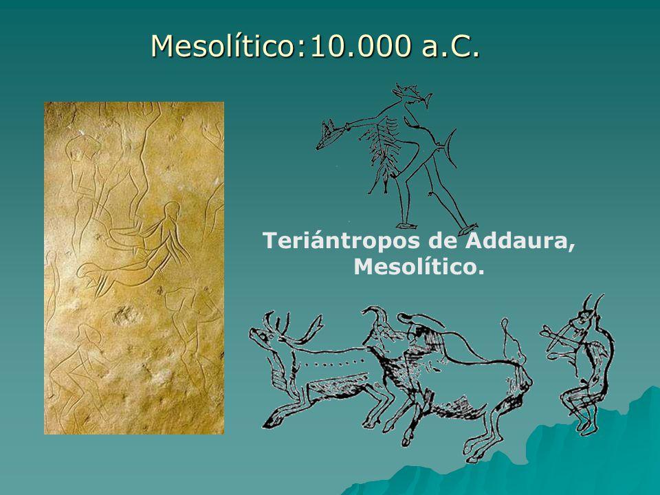 Teriántropos de Addaura, Mesolítico.