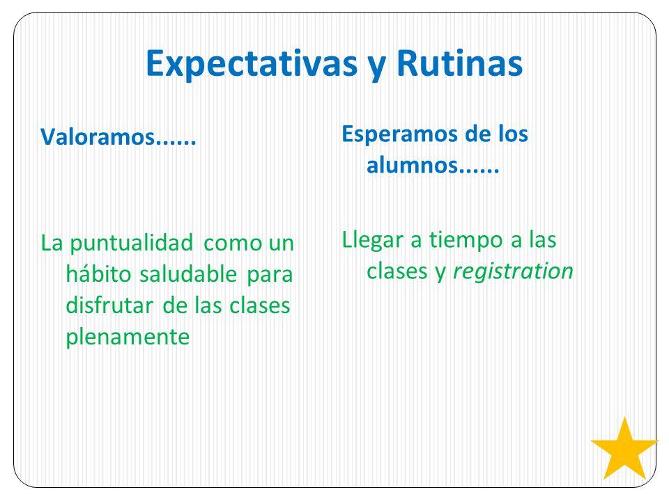Expectativas y Rutinas