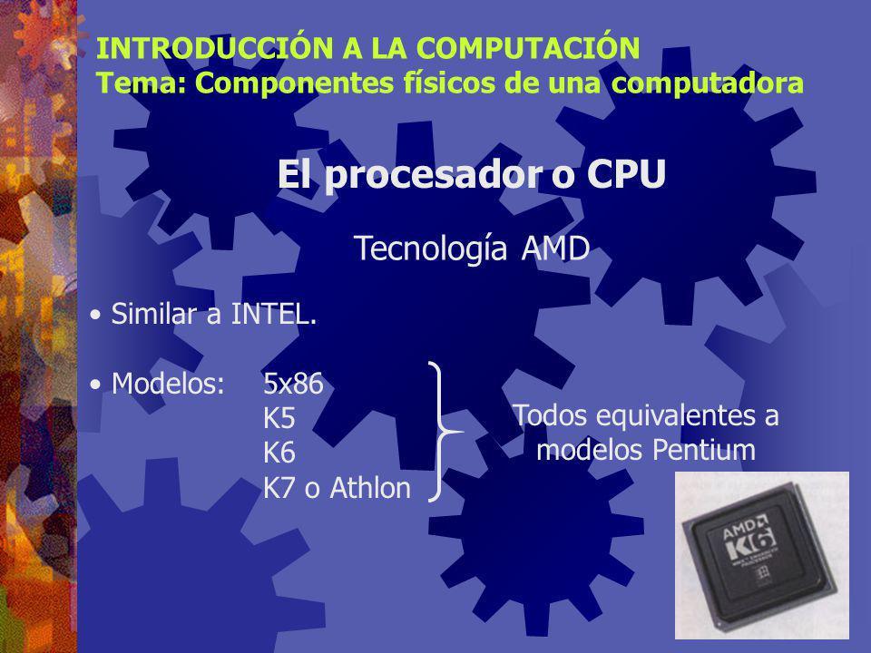 Todos equivalentes a modelos Pentium