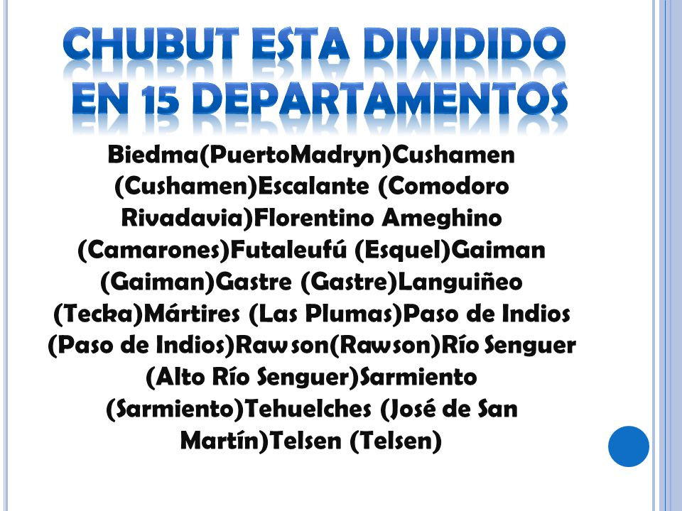 Biedma(PuertoMadryn)Cushamen