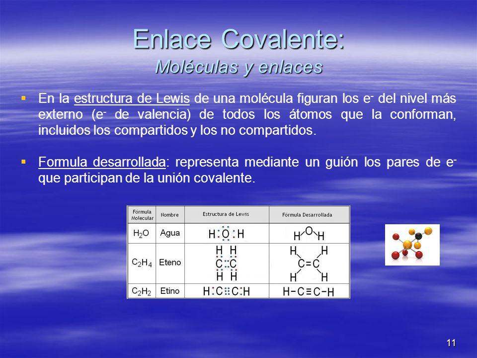 Enlace Covalente: Moléculas y enlaces