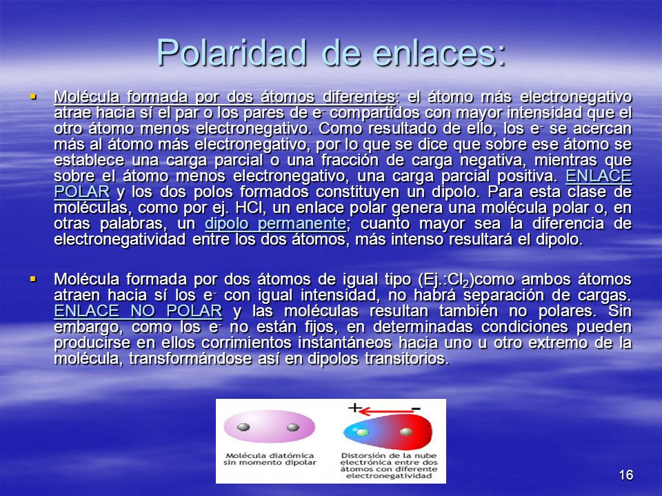 Polaridad de enlaces: