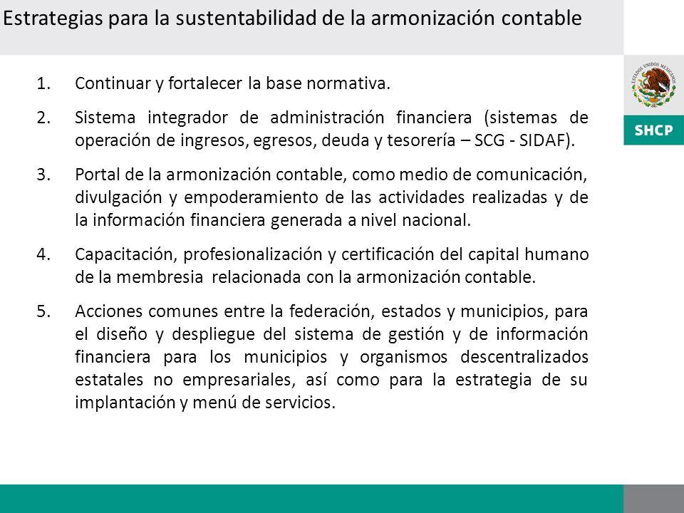 Estrategias para la sustentabilidad de la armonización contable