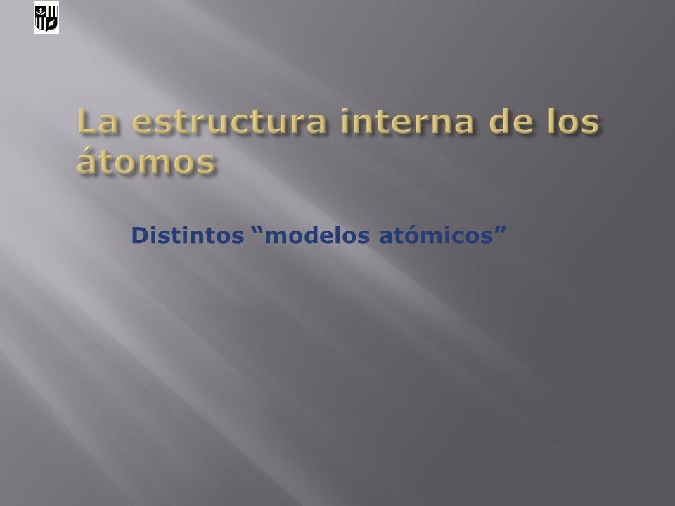 La estructura interna de los átomos