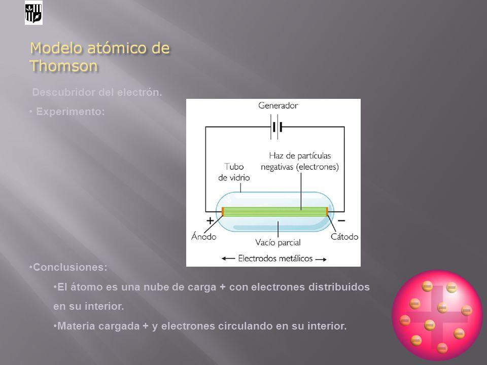 Descubridor del electrón.