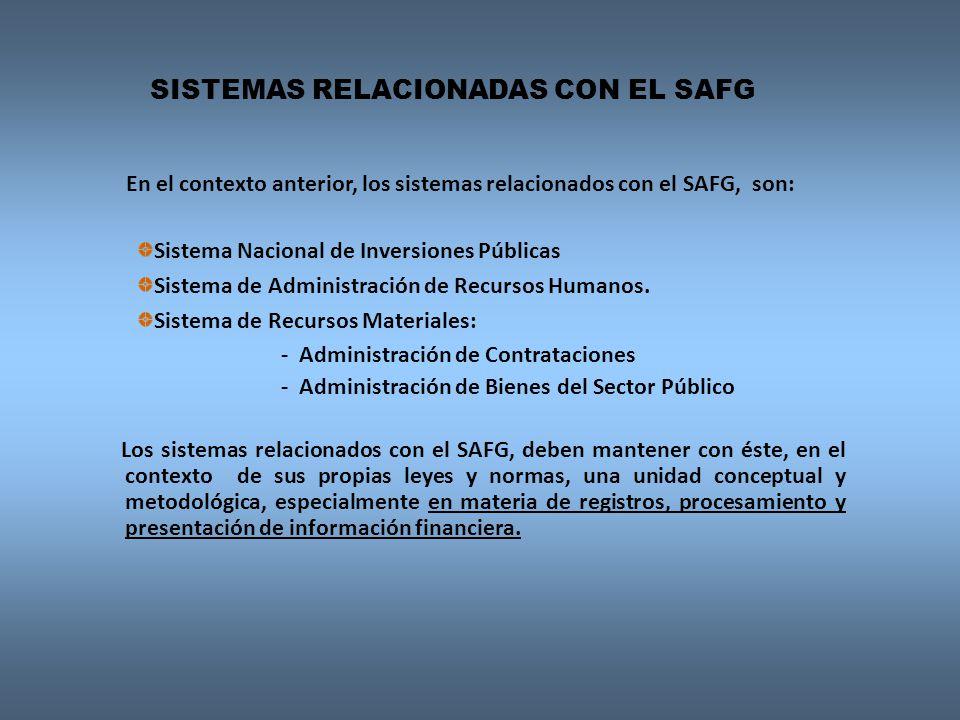 SISTEMAS RELACIONADAS CON EL SAFG