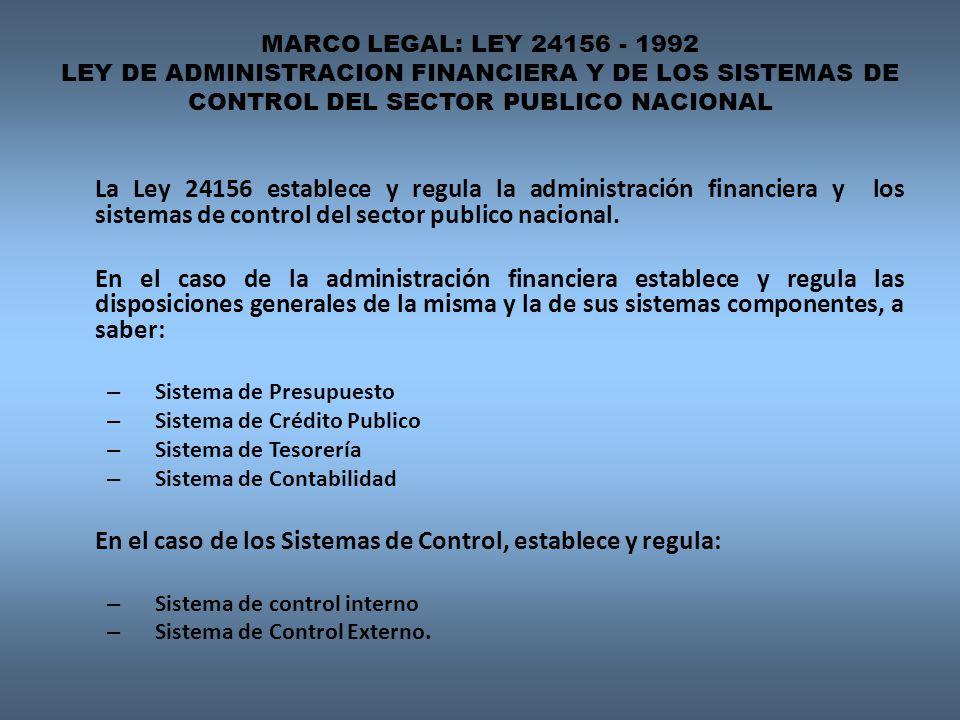 En el caso de los Sistemas de Control, establece y regula: