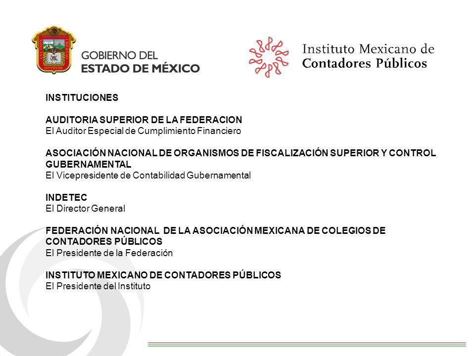 INSTITUCIONES AUDITORIA SUPERIOR DE LA FEDERACION. El Auditor Especial de Cumplimiento Financiero.