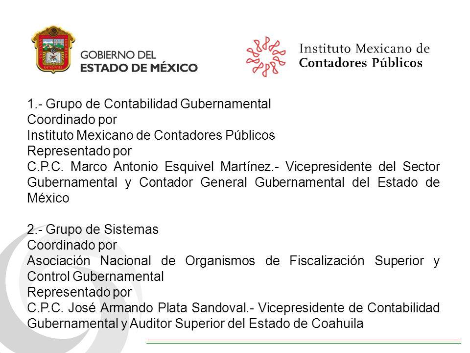 1.- Grupo de Contabilidad Gubernamental