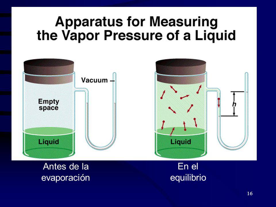 Antes de la evaporación
