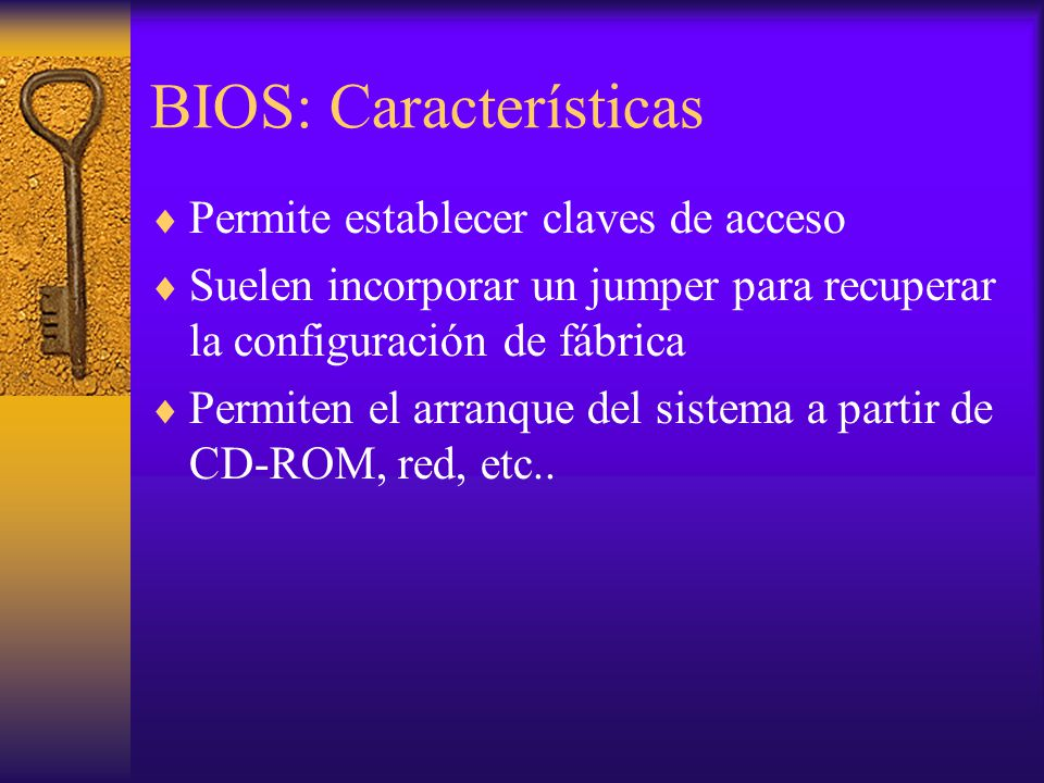 BIOS: Características