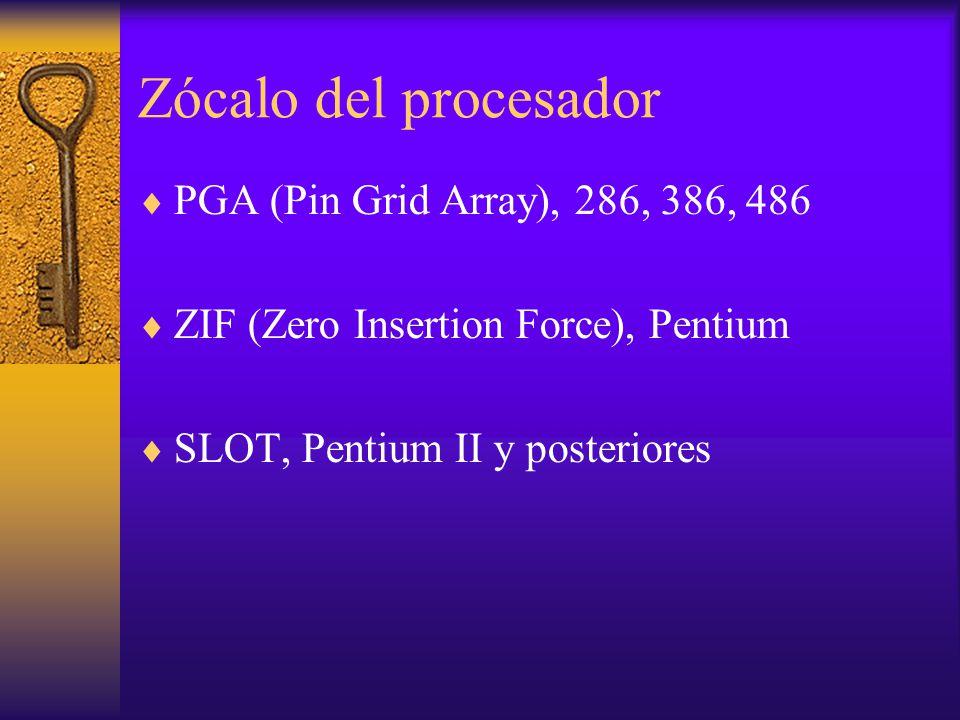 Zócalo del procesador PGA (Pin Grid Array), 286, 386, 486