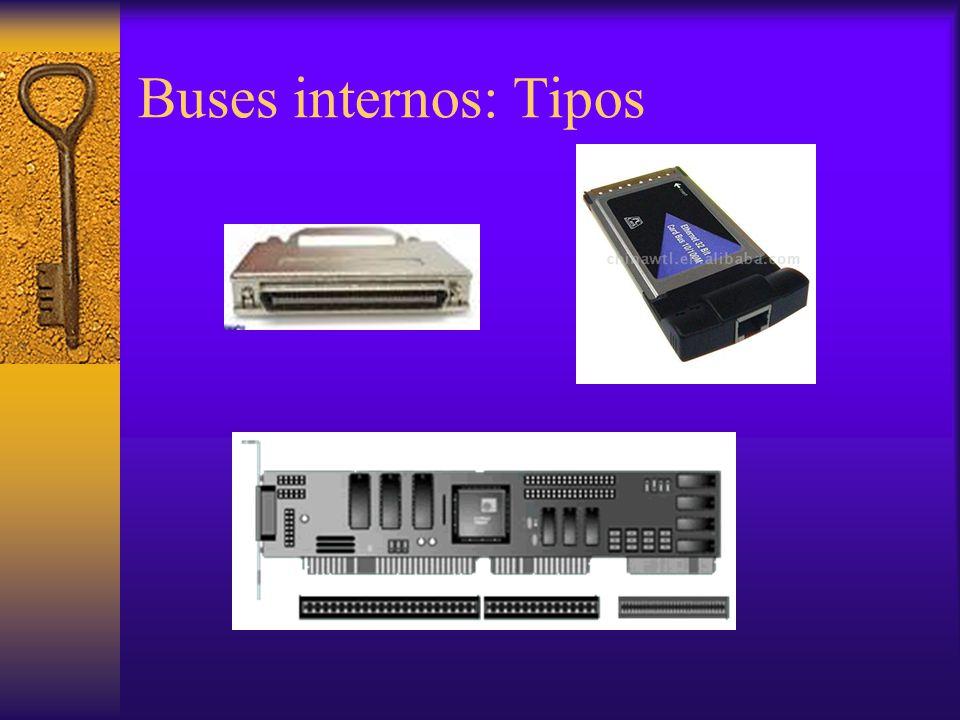 Buses internos: Tipos