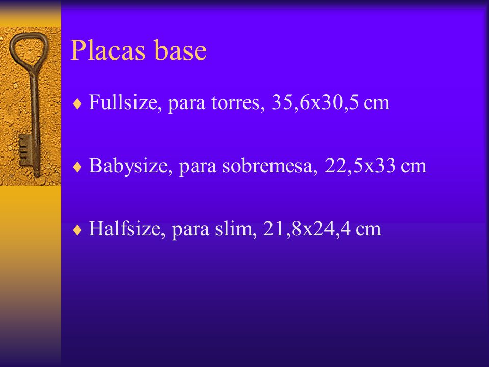 Placas base Fullsize, para torres, 35,6x30,5 cm