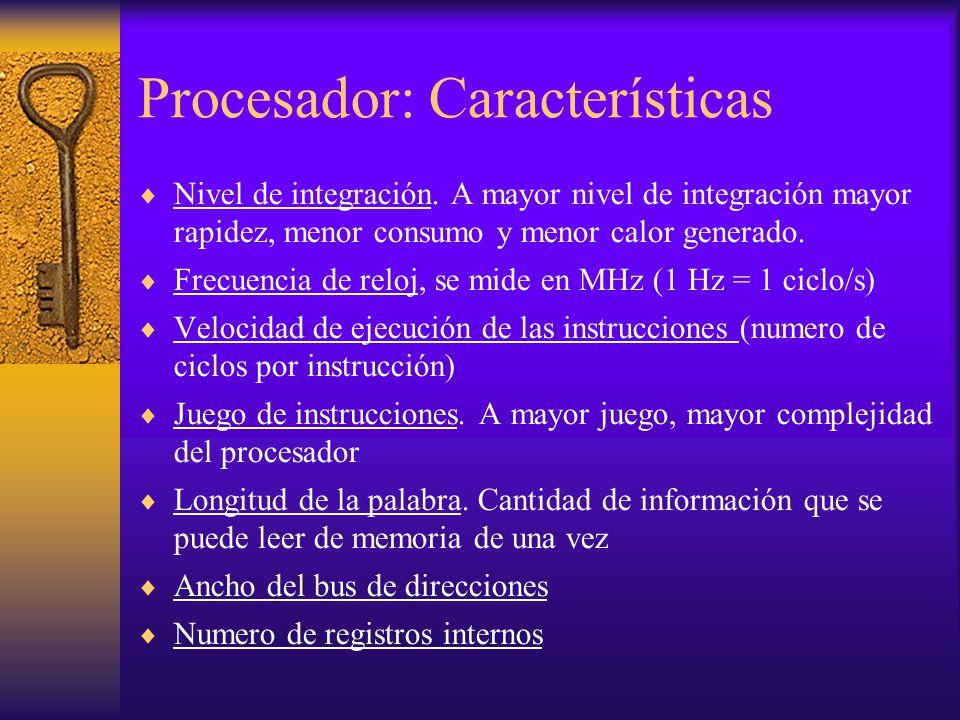 Procesador: Características