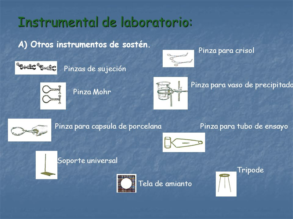 Instrumental de laboratorio: