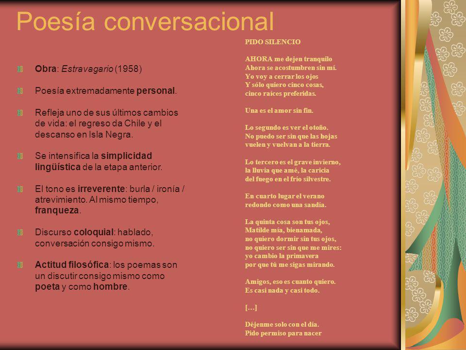 Poesía conversacional