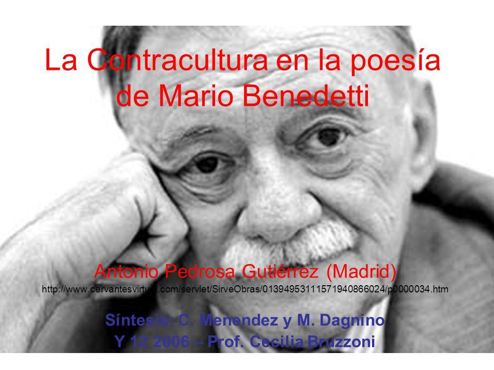 La Contracultura en la poesía de Mario Benedetti