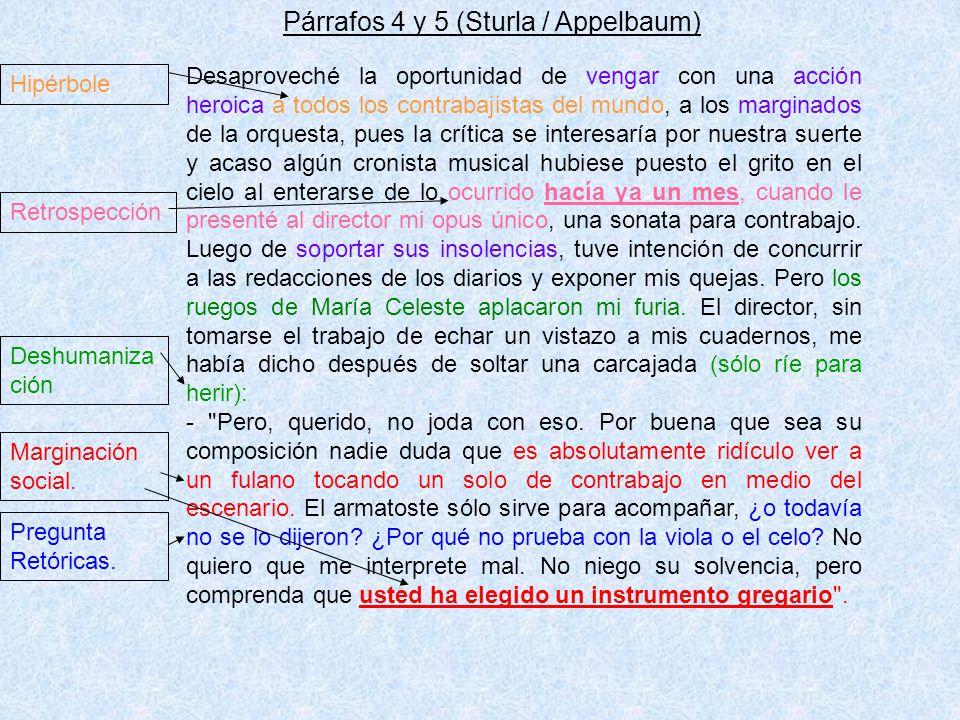 Párrafos 4 y 5 (Sturla / Appelbaum)