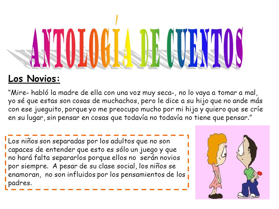 Antología De Cuentos Los Novios: