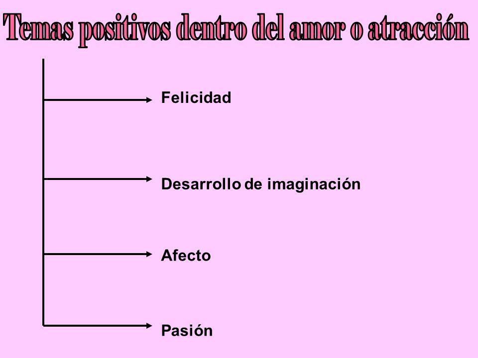 Temas positivos dentro del amor o atracción