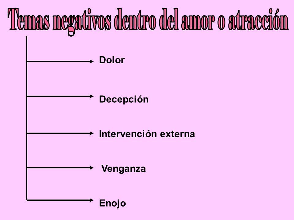 Temas negativos dentro del amor o atracción