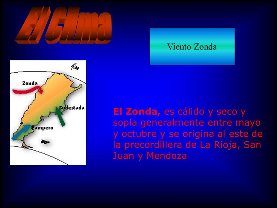 El Clima Viento Zonda.